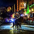 Mardi Gras Mot Horse And Flags by Michael Thomas