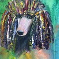 Mardi Gras Poodle by Evi Green