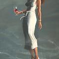 Mardis Gras Woman by Tom Shropshire