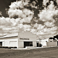 Marfa Ballroom In Sepia by Allen Sheffield