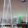 Margaret Hunt Hill Bridge Flag by Rospotte Photography