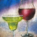 Margarita And A Glass Of Wine by Arline Wagner