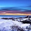 Marginal Way Presunrise Christmas Eve by Dennis Dube