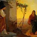 Maria Sister Of Lazarus Meets Jesus Who Is Going To Their House by Ge Nikolai