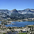 Marie Lake Panorama From High Above - John Muir Trail by Bruce Lemons