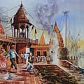 Marikarnika Ghat Varanasi by Rohit Gupta