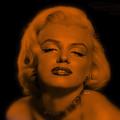 Marilyn Monroe In Copper Blonde. Pop Art by Rafael Salazar