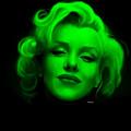 Marilyn Monroe In Green. Pop Art by Rafael Salazar