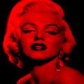 Marilyn Monroe In Red. Pop Art by Rafael Salazar