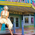 Marilyn Monroe In Front Of Tropic Theatre In Key West by David Smith