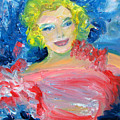 Marilyn Monroe In Pink And Blue by Patricia Taylor