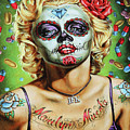 Marilyn Monroe Jfk Day Of The Dead  by Chuck Kuhn