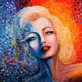 Marilyn Monroe Original Acrylic Palette Knife Painting by Georgeta Blanaru