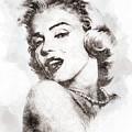 Marilyn Monroe Portrait 01 by Pablo Romero