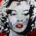 Marilyn Monroe Red Flower by Kathleen Artist PRO