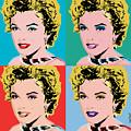 Marilyn Pop 4 by Janine Hoffman