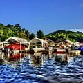 Marina At Cheat Lake Clear Day by Dan Friend