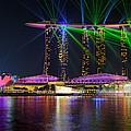 Marina Bay Sands Lasershow by Martin Fleckenstein