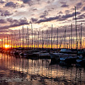 Marina Sunset by Mike Reid