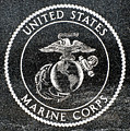 Marine Corps Emblem Polished Granite by Gary Whitton