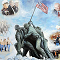 Marine Corps Art Academy Commemoration Oil Painting By Todd Krasovetz by Todd Krasovetz