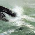 Marine Storm Sea 1911 by Henri Robert
