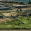 Mariners Point Golf Center In Foster City, California Aerial Photo by David Oppenheimer