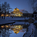 Marjorie Mcneely Conservatory At Dusk by Craig Hinton