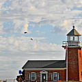 Mark Abbott Memorial Lighthouse  - Home Of The Santa Cruz Surfing Museum Ca Usa by Christine Till