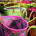 Market Baskets - Libourne by Rick Locke