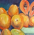 Market Papayas by Lori Wise