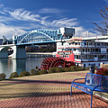 Market Street Bridge With The Delta Queen From Coolidge Park by Tom and Pat Cory