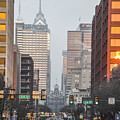 Market Street Philadelphia - In The Morning by Bill Cannon