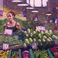 Market Veggie Vendor by Mary McInnis