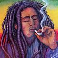 Marley Smoking by David Sockrider