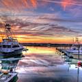 Marlin Quay Marina At Sunset by TJ Baccari
