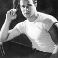 Marlon Brando, Portrait From A by Everett