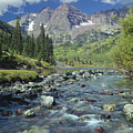 210404-maroon Bells And Creek  by Ed  Cooper Photography