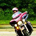 Maroon Harley by Jeff Kurtz