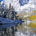 Maroon Lake And Bells 2 by Ron Dahlquist - Printscapes