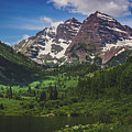 Maroon Lake And Maroon Bells by Andy Konieczny