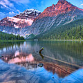 Maroon Morning At Edith Cavell by Adam Jewell