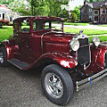 Maroon Vintage Car by Susan Savad