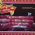 Marquee Motel 1960's Wildwood, Nj, Copyright Aladdin Color Inc. by Retro Views