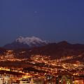 Mars Above La Paz City And Mt Illimani Bolivia by James Brunker