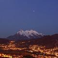 Mars Above Mt Illimani La Paz Bolivia by James Brunker
