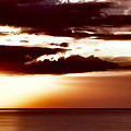 Marsala Sunset Lake Superior by Evie Carrier