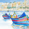 Marsaxlokk Bay by Marsha Elliott