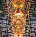 Marseille, France, Inside Of Notre-dame De La Garde Catholic Basilica by Mohamed Kazzaz