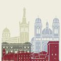 Marseille Skyline Poster by Pablo Romero